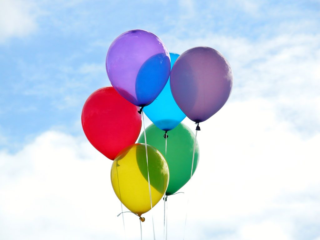 Helium Gas and balloons